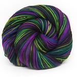 Absinthe and Aubergine - Hardcore Sock Yarn  - Handpainted Superwash Merino - 463 Yards