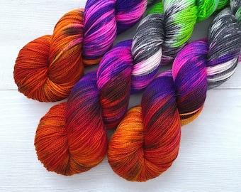 Witch, Please! - Acoustic Sock Yarn - Handpainted Superwash Merino - 400 Yards