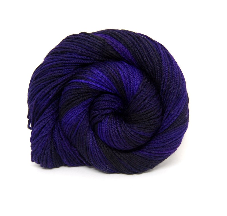 Black Iris  Indie Rock Worsted Yarn   Handpainted Superwash image 0