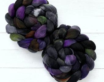 Handpainted Targhee Wool Roving - 4 oz