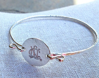 NCL Logo Bangle Bracelet in Sterling Silver - National Charity League Jewelry