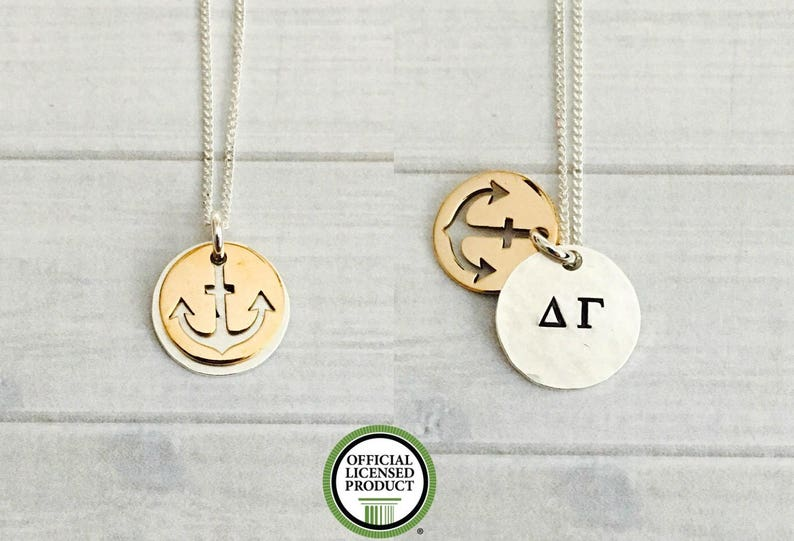 bb9640c6cfae0 Delta Gamma Necklace - Delta Gamma Jewelry - DG Necklace - Delta Gamma  Anchor Sorority Necklace - Sorority Jewelry - Big Little Jewelry