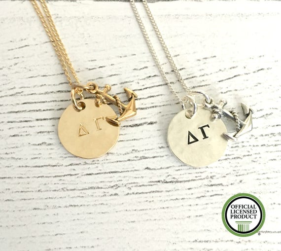 7f988b7da7289 Delta Gamma Necklace - Delta Gamma Jewelry - Sorority Jewelry - DG Anchor  Jewelry - Sorority Necklace - Big Little Gift