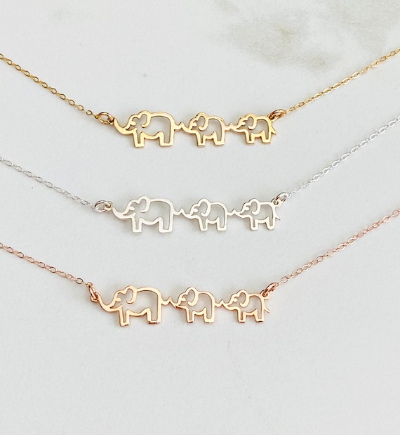 Mama and Baby Elephant Necklace New Mom Gift Elephant Pendant.. Mother Necklace Mother and Daughter Necklace Mom And Daughter Necklace
