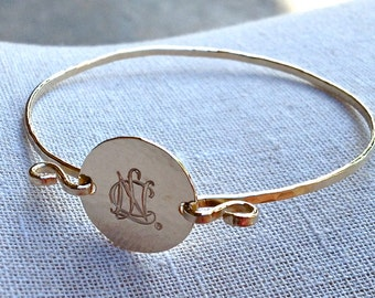 NCL Logo Bangle Bracelet, Gold Filled - National Charity League Jewelry