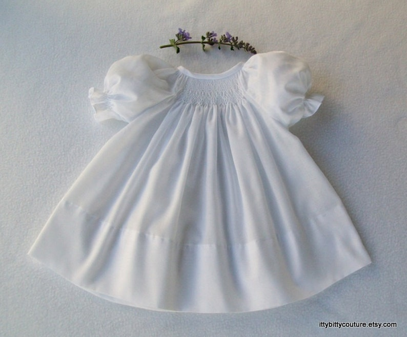 263b4fcb7 Smocked Baby dress Smocked White Dress Smocked White