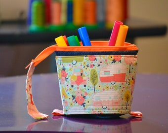 Pencil case that turns into a pot