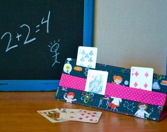 Rigid Playing Cards Holder, E = MC2 Cotton, Washable, Playing Card, Family Play, Preschool, Chemistry, Card Support, Playing Cards, Girl