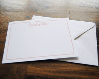 Personalized Notecards, ISABELLA, Girls Stationery, Kids Stationery, Personalized Cards, Thank You Notes, Stationery for Girls, Notecard Set
