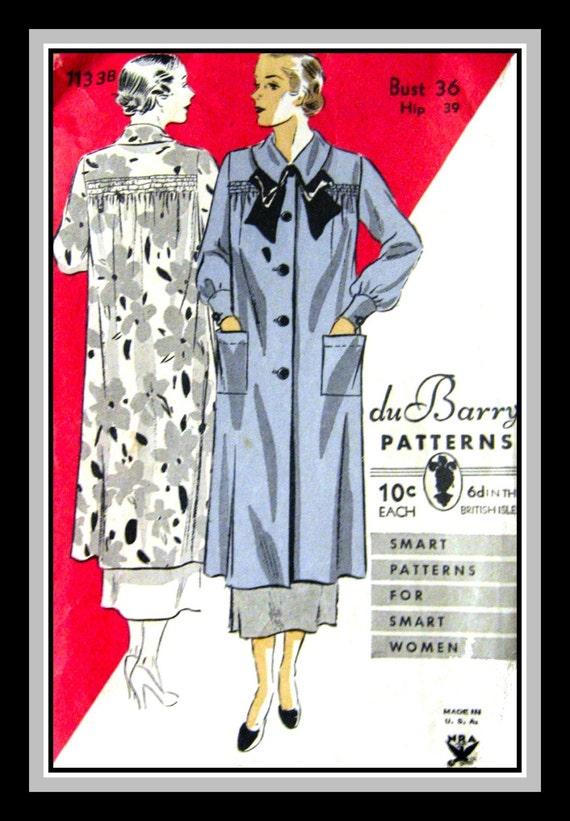Vintage 1930er Jahre-DECO Künstler SMOCK Nähen Muster-raffen | Etsy