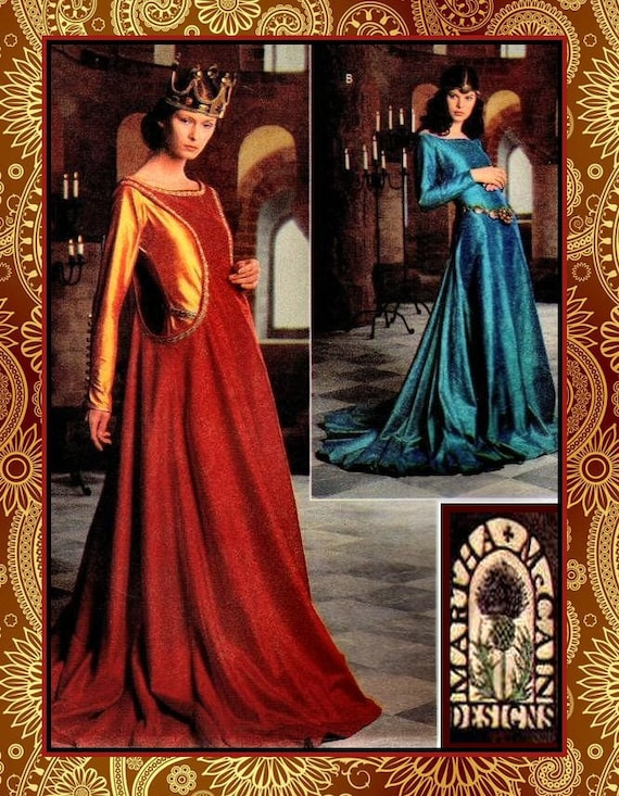 Beautiful Queen of Camelot-Medieval Designer Gown Costume | Etsy