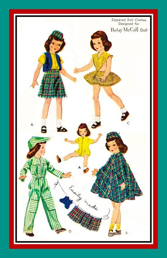 Vintage 1952 Betsy Mccall Doll Wardrobe Original Sewing Etsy