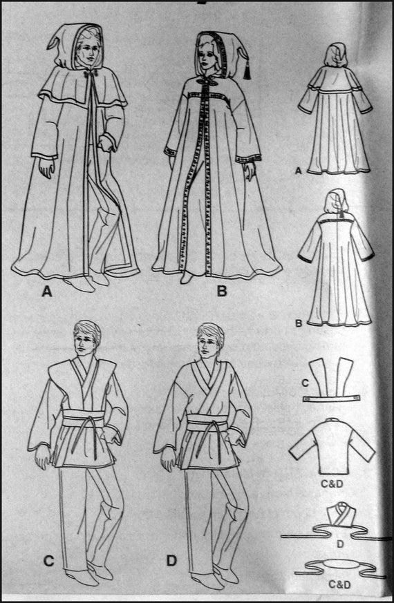 STAR WARS-traje costura patrón-cabos-Jedi Obi-Anakin-Leia | Etsy