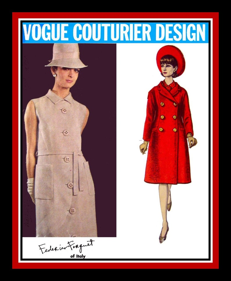 68e6ce449ea Vintage 1960s-VOGUE COUTURIER DESIGN-Sewing Pattern-Beautiful