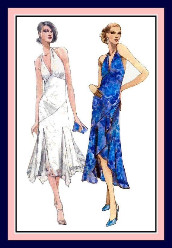 FLAPPER STYLE EVENING Gown-Sewing Pattern-Two Styles | Etsy
