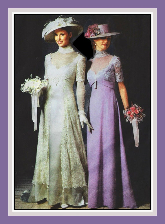 TITANIC ERA GOWNS-Sewing Pattern-Two Styles-Matching   Etsy