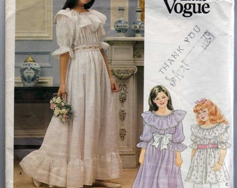 Very Easy Little Vogue Sewing Pattern Girls Dress 1314