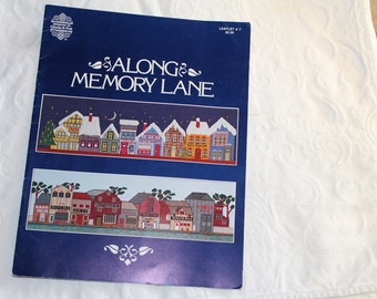 Vintage Along Memory Lane Cross stitch Pattern Leaflet copyright 1979