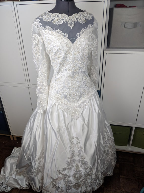 1980's Wedding Gown - Plus Size