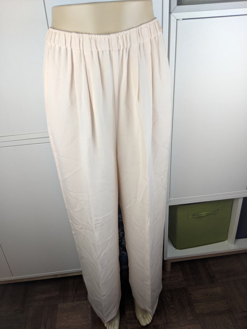 90/'s Luxury peach silk pants sz M