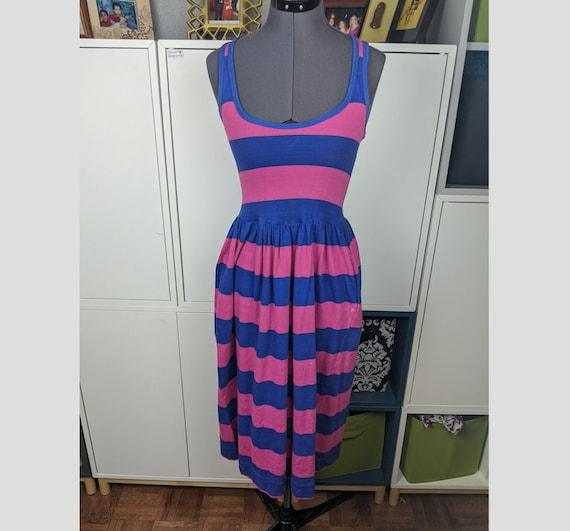 1970's Laura Ashley Striped Dress sz S