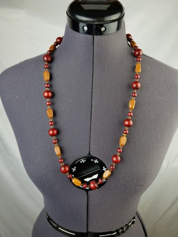 1970's Beaded Statement Necklace