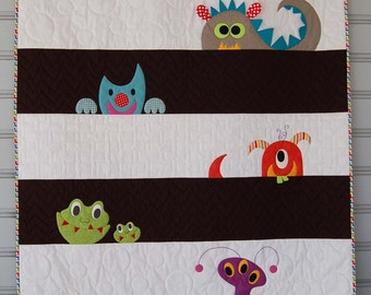 PDF M is for Monster Quilt Pattern in a PDF for Digital Download