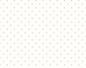 Crosstitch Background Fabric in Gray on White from Bee Basics by Lori Holt for Riley Blake Fabrics