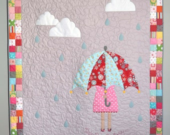 PDF Rainy Day Quilt Pattern in PDF for Digital Download