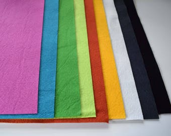 """Bamboo Wool Felt Large Fat Quarter by Color 20.5"""" X 23"""""""