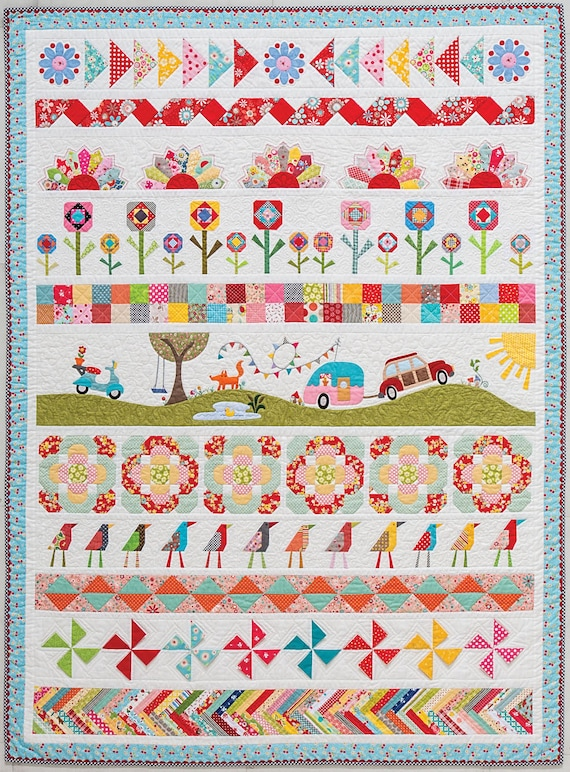 Pipers Girls Row By Row Quilt Kit All Rows And Sashing Book Etsy