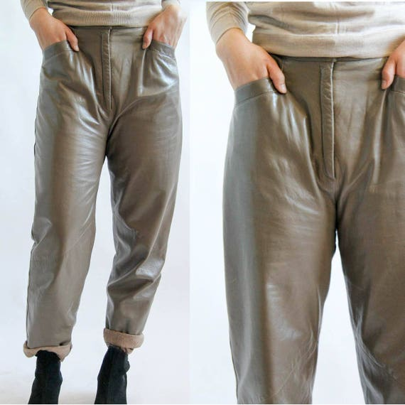 Town And Country Vintage 80 S Leather Pants M Etsy