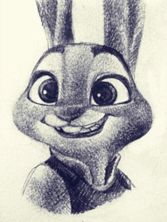 Judy Hopps 4x53 Zootopia Disney Nick Wilde Bunny Etsy