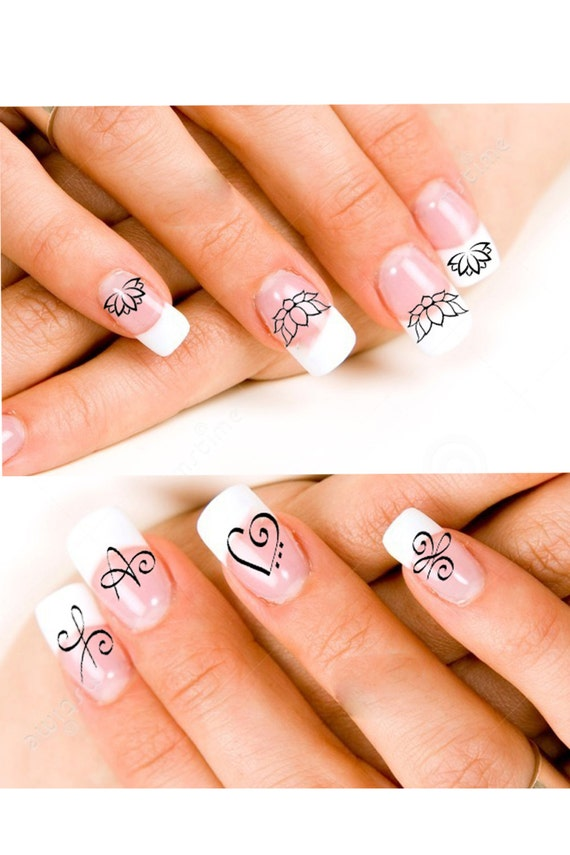 24 Lotus Blossoms Or Zibu Angelic Symbol Nail Decals Etsy