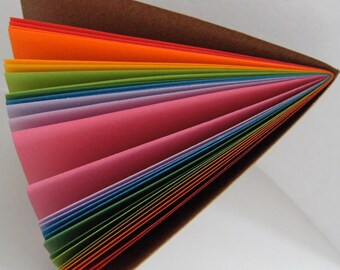 """Rainbow Bright A5 (8""""x6"""") Journal Notebook Refill, Kraft cover.  A5 or A5 Narrow/ 8""""x6"""" or 8""""x4.5"""""""