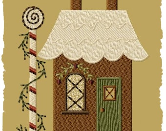 Gingerbread House 2-Version 1-4x4-INSTANT DOWNLOAD