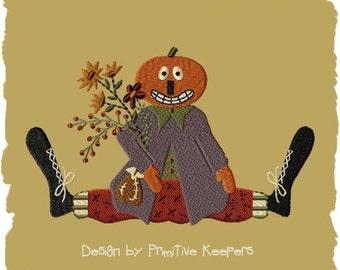 Primitive Machine Embroidery Design-Jack--Version1--(5 x 7)-INSTANT DOWNLOAD
