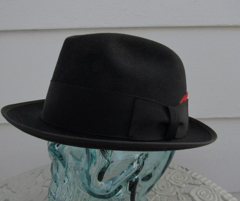 8e9eb190a9c23 50s Old West Vintage Black Royal Stetson Wool Felt Western