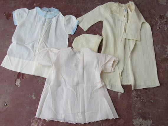 Vintage 40s Lot Cotton 2 Cotton Dress Knit Wool Ba
