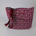 Upcycled Tote Bag – Valentine Gift, OOAK, Shoulder Bag, Recycled Fabric Purse, Travel bag, Women's Purse, Handbag, Day Bag, Market Bag