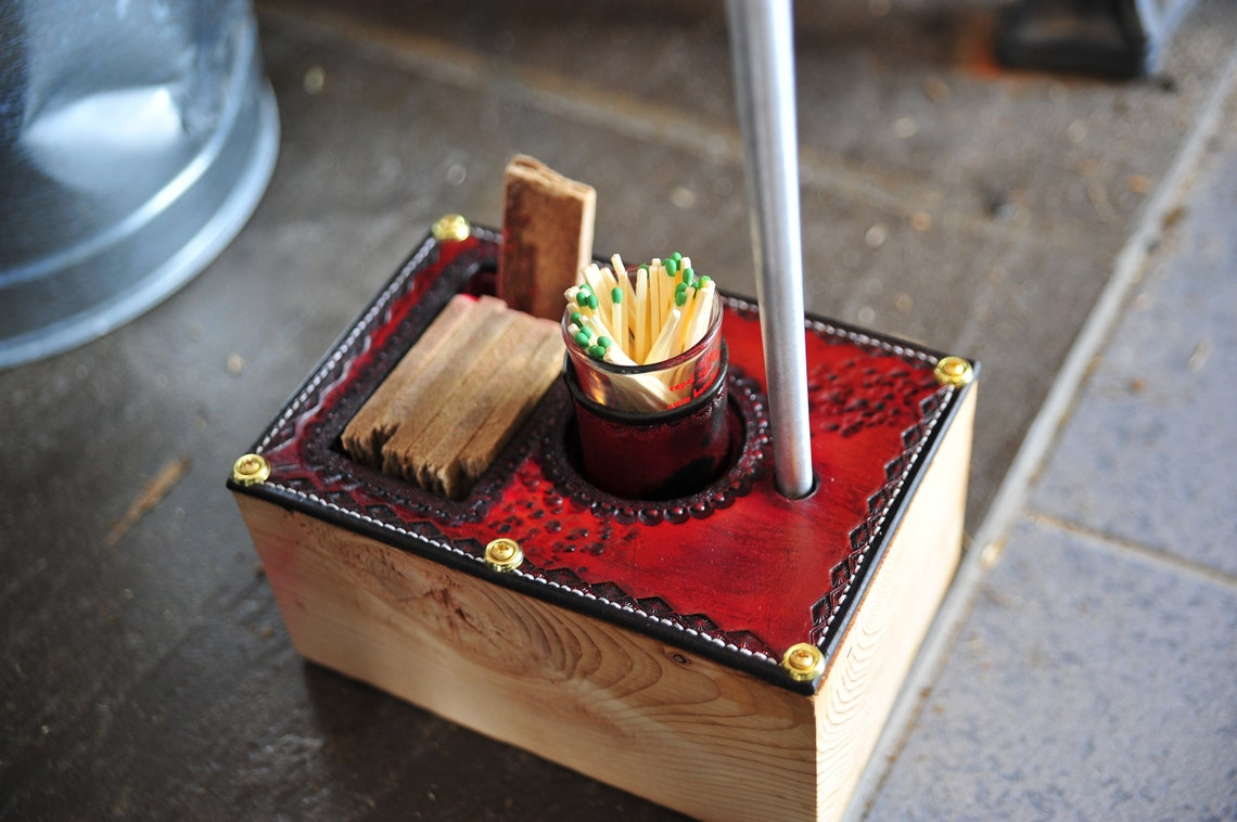 Fireplace/ Wood Stove Poker & Caddy