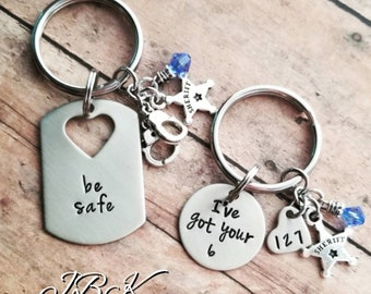 God Be With Us Together And Apart Key Chain Set Etsy