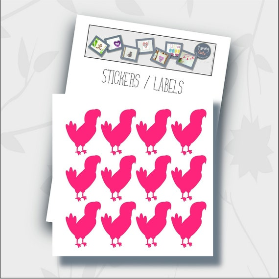 24 Glittery Hedgehog Stickers for Envelopes Labels Jars and other surfaces