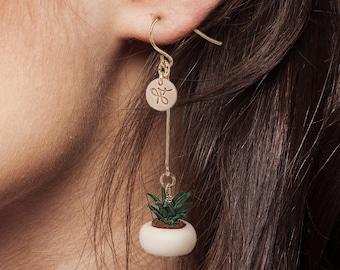 Mila. Succulent 14K Gold-filled  Earrings