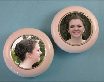 Paperweight Kit, Round Porcelain, Photo Paperweight, Wedding Keepsake, Baby Keepsake, Porcelain Keepsake, Photo Keepsake Kit