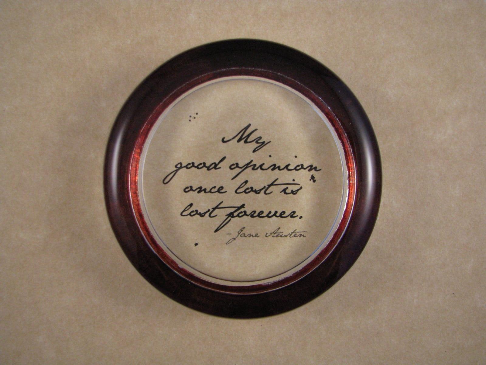 Quote Paperweight Mr. Darcy Quote Jane Austen Paperweight ...