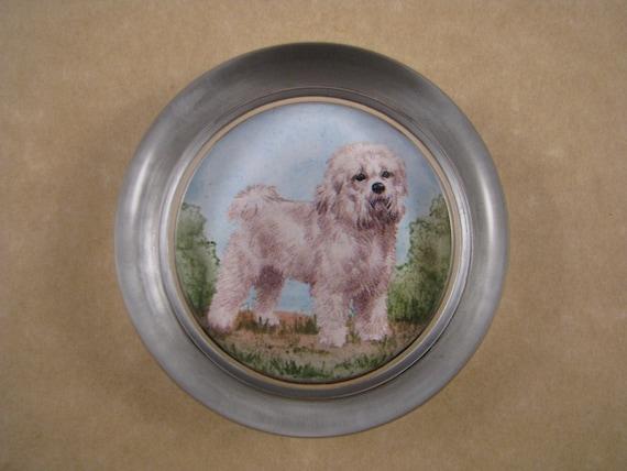 Pug Dog Round Glass Paperweight