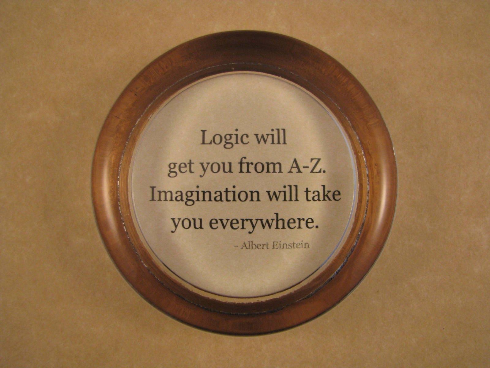 Grad Gift Quote Paperweight Einstein Quote Logic Quote | Etsy