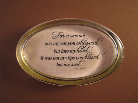 Love Quote Judy Garland Quote Quote Paperweight Heart and