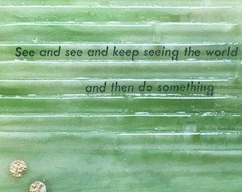 Fused Glass Quote Etsy
